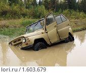 УАЗ застрял в болоте