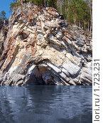 Камень Печка на реке Чусовой