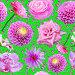 Бесшовный фон с цветами и бабочками, иллюстрация № 5823299 (c) Наталья Спиридонова / Фотобанк Лори