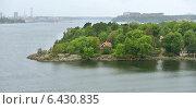Стокгольмский архипелаг дождливым днем, фото № 6430835, снято 26 августа 2014 г. (c) Валерия Попова / Фотобанк Лори