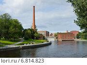 Старые кирпичные здания бывшего завода Tampella, Тампере, Финляндия, фото № 6814823, снято 28 августа 2014 г. (c) Валерия Попова / Фотобанк Лори