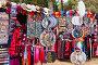 Sale of souvenirs in Seville near Plaza de Espana, фото № 6917763, снято 19 ноября 2014 г. (c) Яков Филимонов / Фотобанк Лори