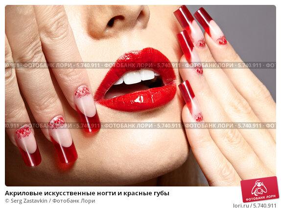 Фото ногти акрил красные