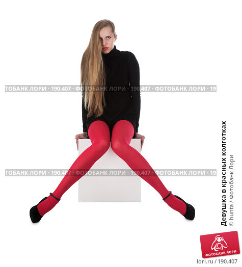 Девушка в красных колготках, фото N 190407 (c) hunta / Фотобанк Лори.