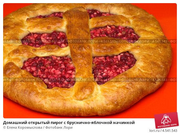 Начинка для пирога из брусники и яблок