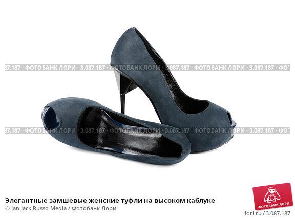 Элегантные замшевые женские туфли на высоком каблуке, фото 3087187.