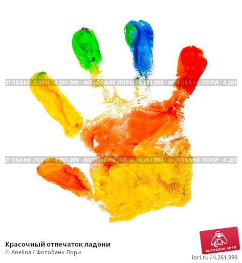 Красочный отпечаток ладони; фото 4261999, фотограф Anelina. Фотобанк Лори - Продажа фотографий, иллюстраций и изображений, видео