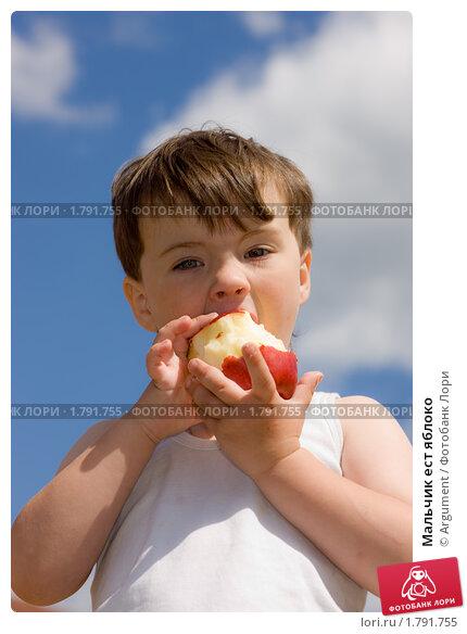 Мальчик ест яблоко, фото № 1791755, снято 18 июня 2010 г. (c) Argument / Фотобанк Лори