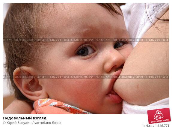 Фотография,младенец, малыш, ребенок, кормить, грудь, сосать, лицо, взгляд,