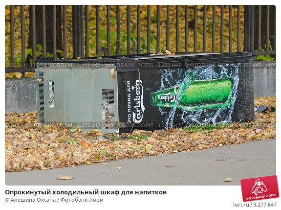 Опрокинутый холодильный шкаф для напитков, фото 3277647, снято 8 октября...