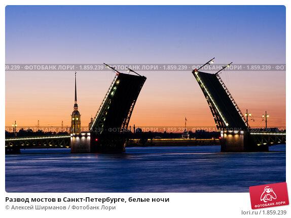 Мостов в санкт петербурге белые ночи