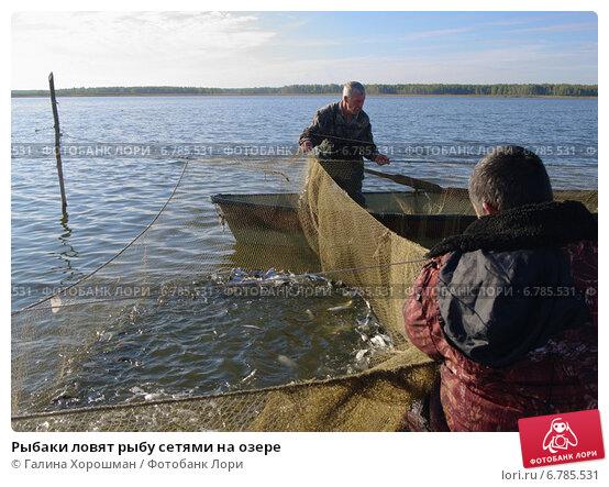 ловля на сети в озере