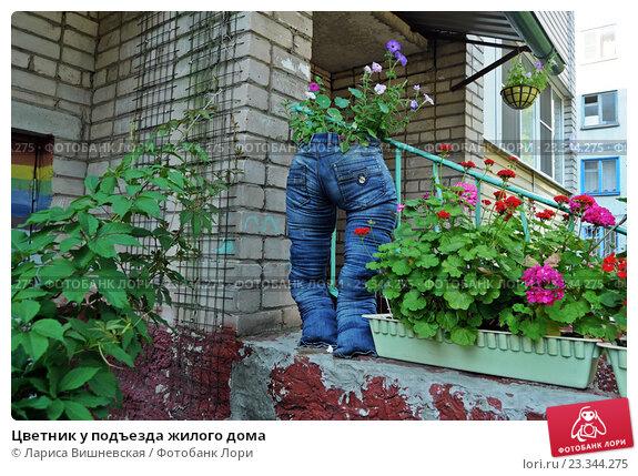Цветник у многоквартирного дома своими руками с