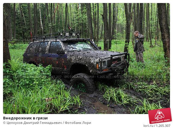 Внедорожник в грязи Целоусов…