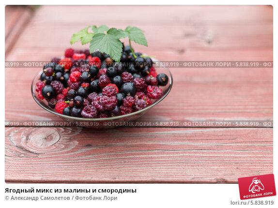 Ягодный микс из малины и смородины, фото № 5838919, снято 20 июля 2013 г. (c) Александр Самолетов / Фотобанк Лори