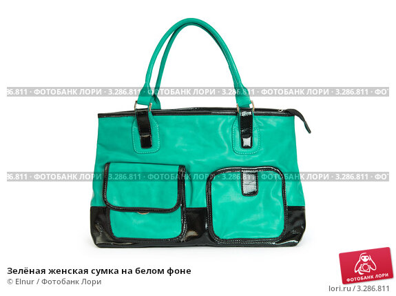 Зелёная женская сумка на белом фоне, фото 3286811, снято 28 июля 2010 г...