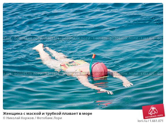 Плавание под водой в море