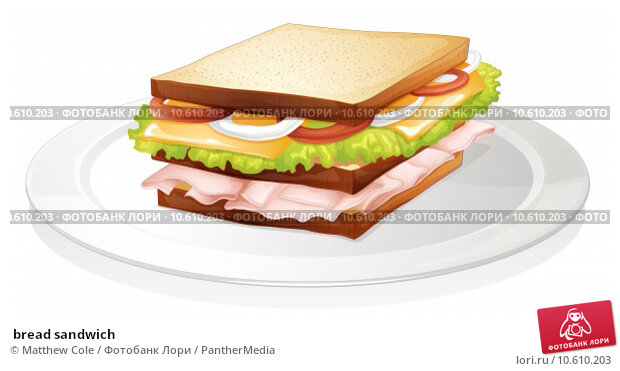 bread sandwich . Стоковая иллюстрация, иллюстратор Matthew Cole / PantherMedia / Фотобанк Лори