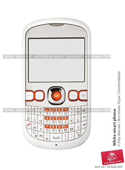 White smart phone. Стоковое фото, фотограф Filip Warulik / PantherMedia / Фотобанк Лори