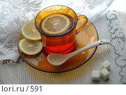 Купить «Чашка чая с лимоном, сахар», фото № 591, снято 1 февраля 2005 г. (c) Юлия Яковлева / Фотобанк Лори