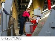 Купить «Рабочая на ковровой фабрике», фото № 1083, снято 20 июля 2019 г. (c) Александр Михеев / Фотобанк Лори