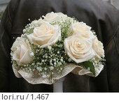 Купить «Букет невесты из кремовых роз с бусинками», эксклюзивное фото № 1467, снято 8 октября 2005 г. (c) Ирина Терентьева / Фотобанк Лори