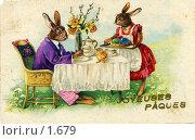 Купить «Пасхальная цветная открытка, 1910-е годы», фото № 1679, снято 20 февраля 2019 г. (c) Retro / Фотобанк Лори