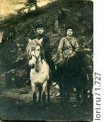 Купить «Два вооруженных всадника. Дальний Восток, 1920-е годы.», фото № 1727, снято 19 февраля 2019 г. (c) Retro / Фотобанк Лори