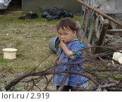 Купить «Ненецкий ребенок», фото № 2919, снято 14 августа 2005 г. (c) Николай Гернет / Фотобанк Лори