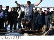 Купить «Прыжки через сани», фото № 3111, снято 25 марта 2006 г. (c) Николай Гернет / Фотобанк Лори
