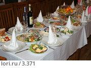Купить «Свадебный стол», эксклюзивное фото № 3371, снято 19 ноября 2005 г. (c) Ирина Терентьева / Фотобанк Лори