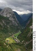 Горная долина в Норвегии (2005 год). Стоковое фото, фотограф Tamara Kulikova / Фотобанк Лори