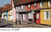 Купить «Разноцветные дома, Англия, Saffron Walden», фото № 5047, снято 29 июня 2006 г. (c) Tamara Kulikova / Фотобанк Лори