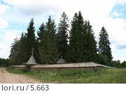 Деревянный ансамбль (2006 год). Редакционное фото, фотограф Николай Гернет / Фотобанк Лори