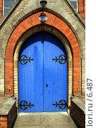 Купить «Голубая дверь», фото № 6487, снято 29 июля 2006 г. (c) Tamara Kulikova / Фотобанк Лори