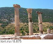 Купить «Три античные колонны. Эфес, Турция», фото № 8875, снято 9 июля 2006 г. (c) Маргарита Лир / Фотобанк Лори