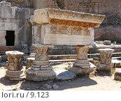 Купить «Мраморная плита. Эфес, Турция», фото № 9123, снято 9 июля 2006 г. (c) Маргарита Лир / Фотобанк Лори