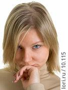 Купить «Портрет несчастной блондинки», фото № 10115, снято 4 марта 2006 г. (c) Михаил Лавренов / Фотобанк Лори