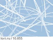 Купить «Обрезки бумаги на голубом, фон», фото № 10855, снято 18 августа 2006 г. (c) Ольга Красавина / Фотобанк Лори