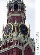 Купить «Московский Кремль. Спасская башня», фото № 11343, снято 18 августа 2018 г. (c) Юрий Синицын / Фотобанк Лори