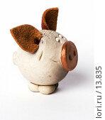 Купить «Свинка ручной работы», фото № 13835, снято 30 ноября 2006 г. (c) Лисовская Наталья / Фотобанк Лори