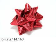Купить «Красный праздничный бант для подарков и поздравления», фото № 14163, снято 25 ноября 2006 г. (c) Александр Паррус / Фотобанк Лори