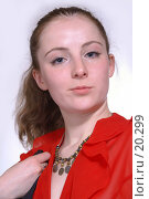 Купить «Девушка в красной блузке», фото № 20299, снято 27 января 2007 г. (c) Григорьева Любовь / Фотобанк Лори