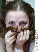 Купить «Девушка с длинными волосами», фото № 22047, снято 27 января 2007 г. (c) Григорьева Любовь / Фотобанк Лори