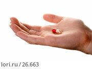 Купить «Пилюля на ладони», фото № 26663, снято 24 марта 2007 г. (c) Вадим Пономаренко / Фотобанк Лори