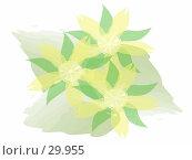 Три цветка. Стоковая иллюстрация, иллюстратор Дмитрий Трубников / Фотобанк Лори
