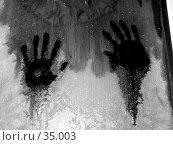 Купить «Отпечатки рук на стекле», фото № 35003, снято 1 февраля 2005 г. (c) Андрей Яшин / Фотобанк Лори
