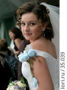 Невеста с букетом, bride with a bouquet. Стоковое фото, фотограф Владимир / Фотобанк Лори