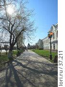 Купить «Омск, пешеходная дорога вдоль улицы Ленина в историческом центре города», эксклюзивное фото № 37211, снято 30 апреля 2007 г. (c) Круглов Олег / Фотобанк Лори