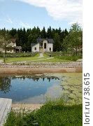 Купить «Коттеджный поселок», фото № 38615, снято 10 июня 2006 г. (c) Юлия Перова / Фотобанк Лори